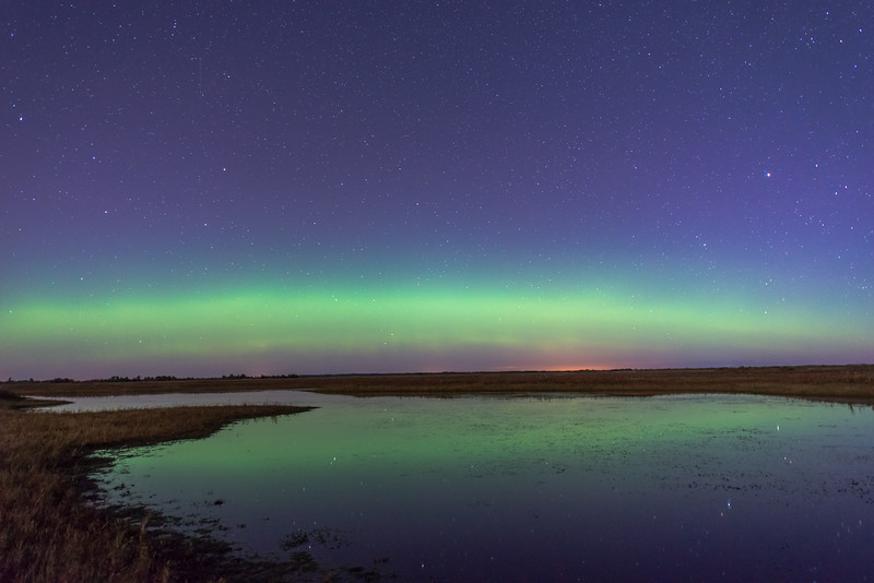 Northern Lights over Crex Meadows WMA