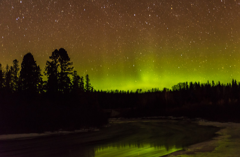 Northern Lights on The Brule River