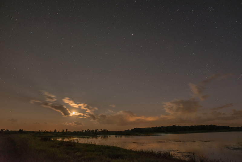 MNGN-13-45: Setting Moon over Crex Meadows