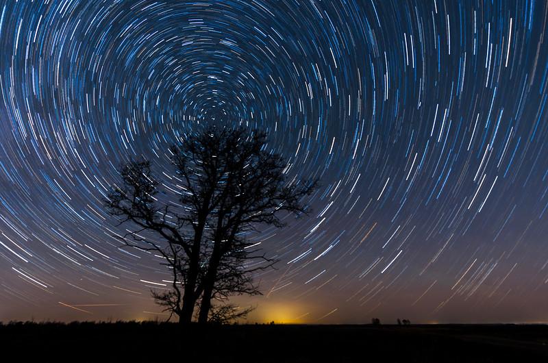 December star trail