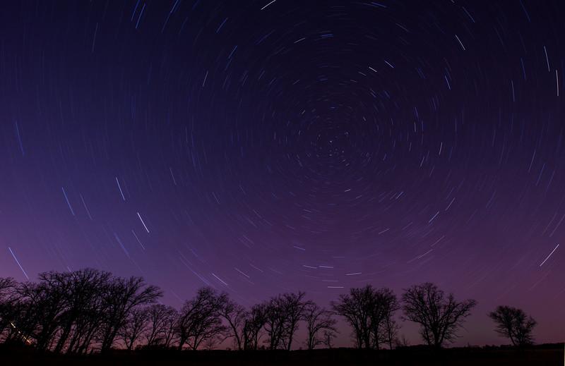 Polaris and Star Trails