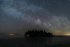 Milky Way over Ellis Island