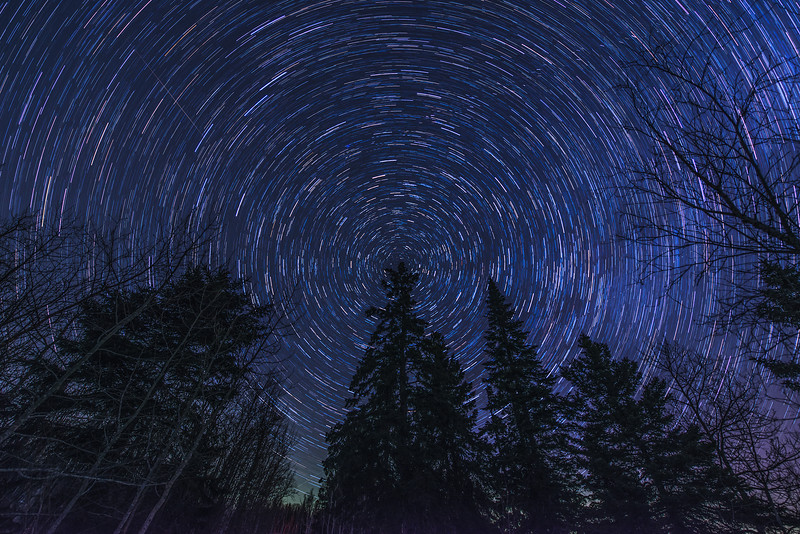 Star Trails in Northern Minnesota