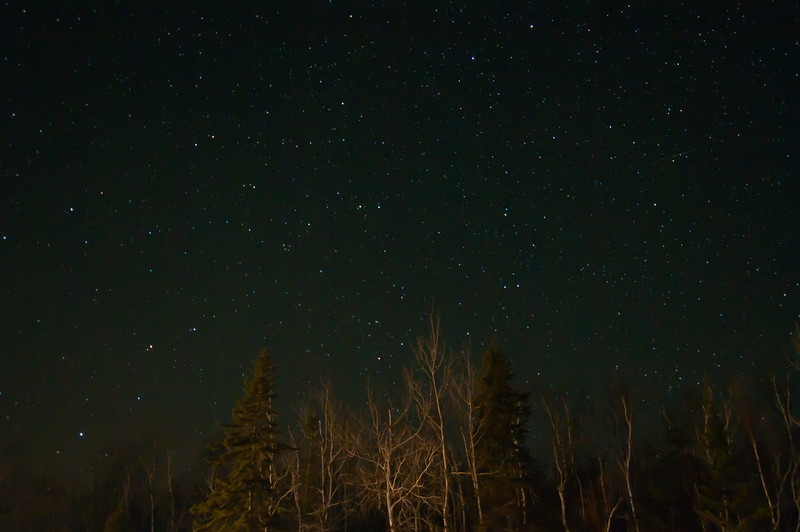MNGN-11112: Evening stars over Superior National Forest
