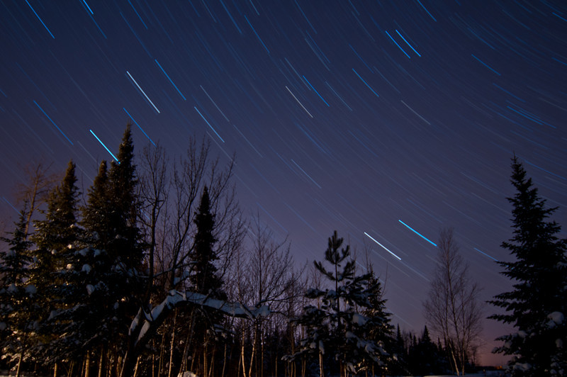 MNWN-11060: Star Trails in the Boundary Waters Canoe Area Wilderness (BWCAW)