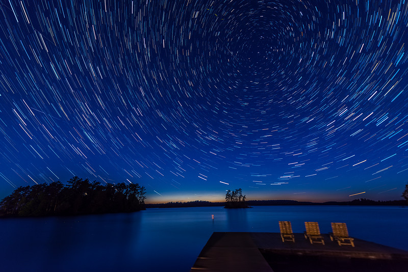 Star Trails over Burntside Lake