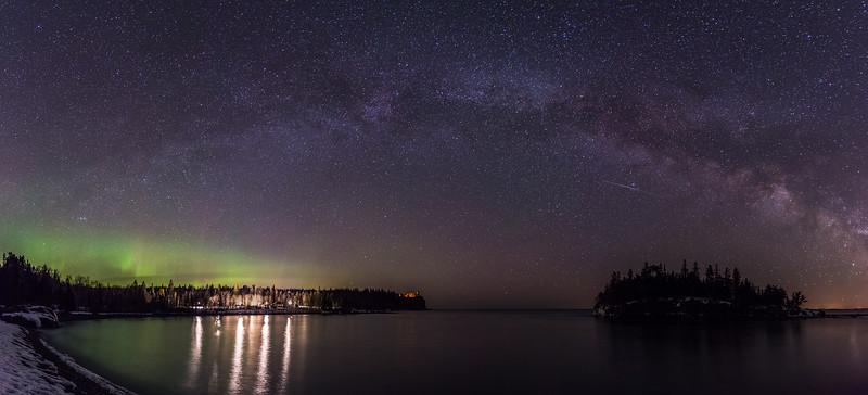 Milky Way over Split Rock Lighthouse State Park