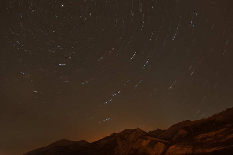 MNGN-11141: Star trails in Jasper National Park, Canada