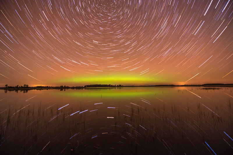 Star Trails and Northern Lights