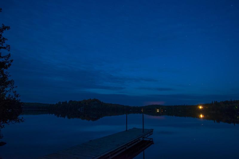 Caribou Lake at night