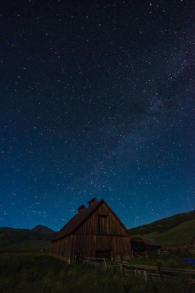 Milky Way and homestead barn