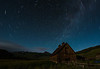 Star Trails over old barn