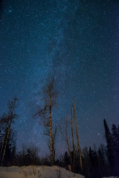 Milky way in January
