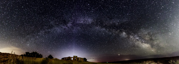 Milky Way over Stonehenge Memorial, Goldendale WA