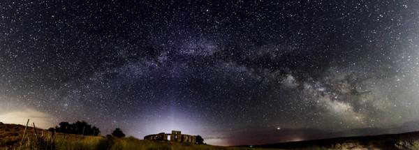 Milky Way over Stonehenge Memorial, Goldendale WA