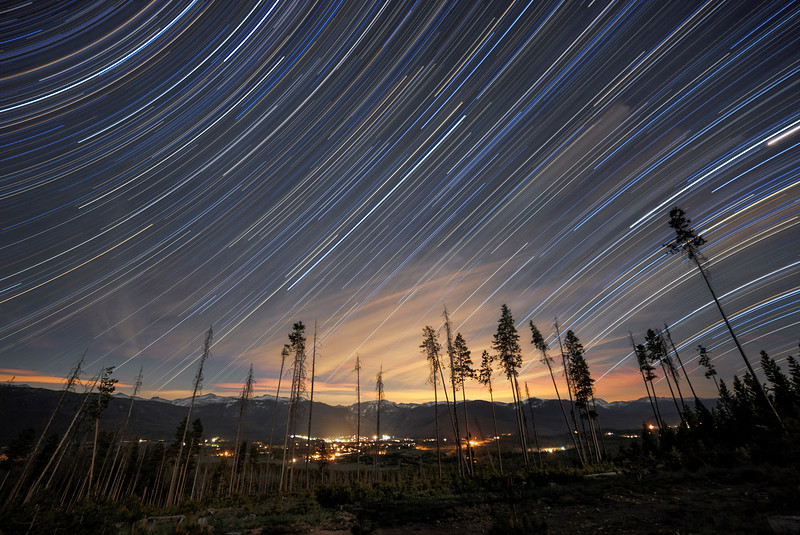 Grand Lake Equatorial Star Trails