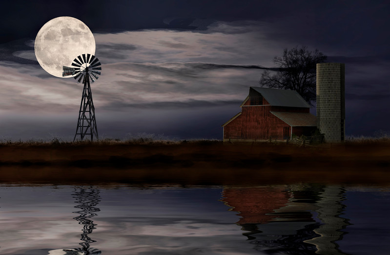 Night Farm Scene edit 2