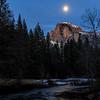 Full Moon at Half Dome