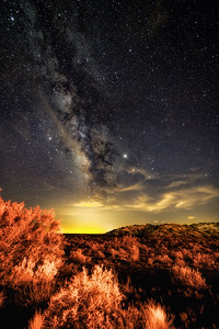Milky Way in the desert of New Mexico