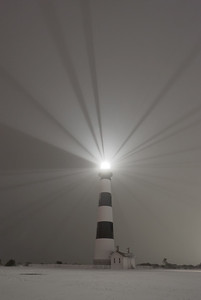 Snow at Bodie Island Lighthouse-Cape Hatteras National Seashore-Outer Banks