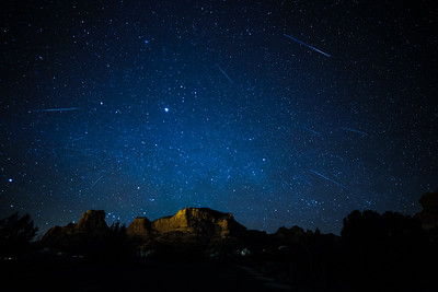 2013 Geminid Meteor Shower from Sedona.
