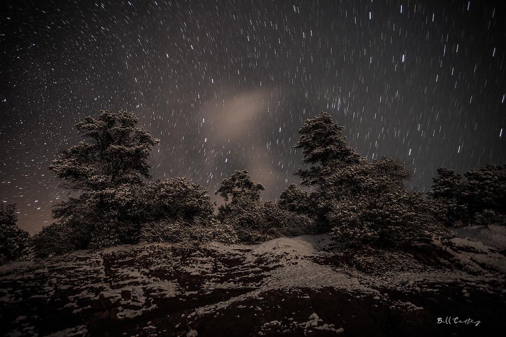"""Snowy Sedona Stars"""