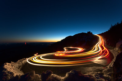Switchback Road Curves on Grandfather Mountain-North Carolina