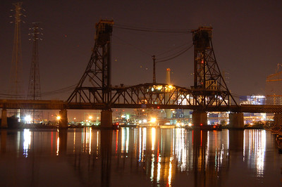 Train bridge in Jersey City