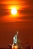 Moonrise over Lady Liberty
