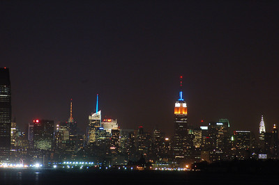 The Empire State Building from the south.