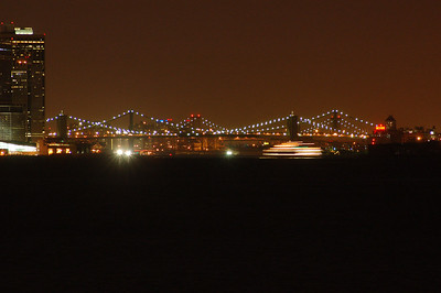All three of the lower East River Bridges.