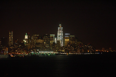 The Freedom Tower and lower Manhattan