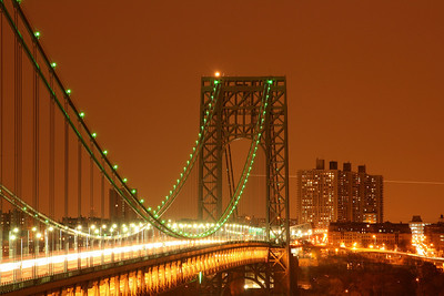 GWB Lit up Green in November for the Girl Scouts of America 100th Anniversary 11-20-1