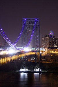 GWB lit up in BLUE for Autism Awareness Month 4-4-13