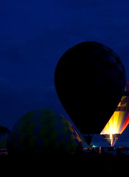 Hot Air Balloons Glow & Show <br /> Allen County Fair 2013