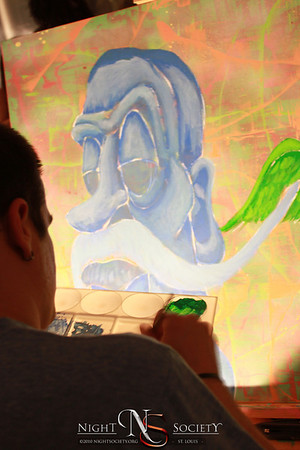 The Saint Louis City Open Studio and Gallery held their Annual Wall Ball at Neo on Locust. Featuring several local artist.