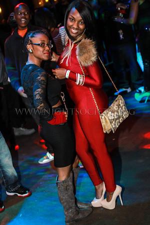 Kandi Buress hosts eightball adn MJG at The Coliseum Music Lounge 02-01-2014