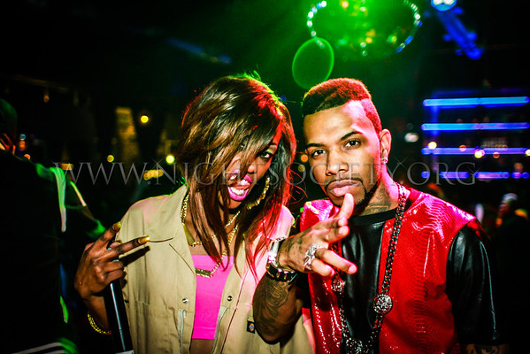 Rap Legend Lil Kim and St. Louis native rapper Tiffany Foxx host her birthday party at the Coliseum Music Lounge. Photography by NightSociety.