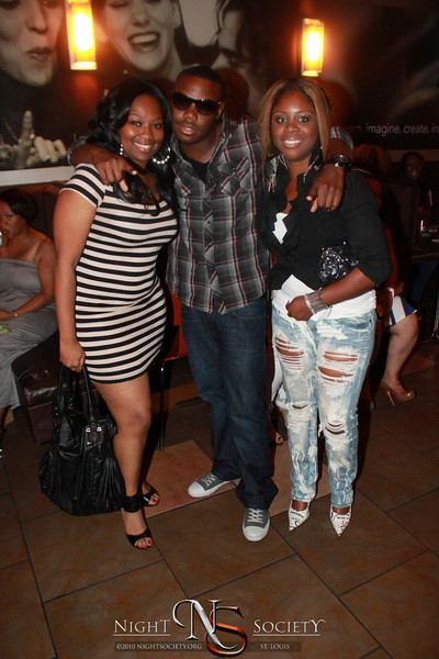 MC celebrates his latest CD release party with Vega and a packed house at the Inspot Dessert and Lounge.