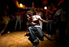 2/15/08 Boston, MA -- A circle forms around Titus Bray as he shows off his stuff at Bembe, an Afro-Latin dance celebration at The Red Fez in Boston February 15, 2008.  Erik Jacobs for the Boston Globe