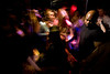 2/3/08 Boston, MA -- A bouncer keeps his eye on the pulsating crowd at Sanctuary, February 3, 2008.  Erik Jacobs for the Boston Globe