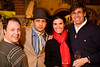 2/21/08 Boston, MA -- From left, Mark Gustafson, Rohit C N Kashyap (cq), Natalia Rodriguez and Eduardo Amorin at the Gardner After Hours event at the Isabella Stewart Gardner Museum February 21, 2008.  Erik Jacobs for the Boston Globe