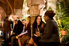 2/21/08 Boston, MA -- Silvia Pugliese, left of the two, talks to Naima Joseph at the Gardner After Hours event at the Isabella Stewart Gardner Museum February 21, 2008.  Erik Jacobs for the Boston Globe