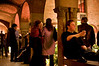"2/21/08 Boston, MA -- At right, Patrick Bowers takes in the atmosphere at the Gardner After Hours event at the Isabella Stewart Gardner Museum February 21, 2008.  ""It's very relaxing. It's a nice little oasis,"" Bowers said.  Erik Jacobs for the Boston Globe"