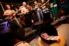 2/26/08 Cambridge, MA -- A tip hat sits in front of the Dixie Butter Hounds performing at Tuesday night's bluegrass pickin' party at the Cantab Lounge in Cambridge February 26, 2008.  Erik Jacobs for the Boston Globe