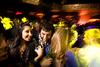 2/6/08 Boston, MA -- From left, Monica Anand, Sajni Mehta, James Wetzel and Erin Mulvey mix it up at The Estate in Boston, February 6, 2008.  Erik Jacobs for the Boston Globe
