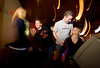 3/25/08 Boston, MA -- Jason Ganong gives Michelle Cormier (left) a brief lesson while Nathan Kocon and Melissa Edwards make eyes with each other at college night at Kings in Boston March 25, 2008.  Erik Jacobs for the Boston Globe