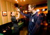 3/25/08 Boston, MA -- Karen Peterson and Shaun McKolay high five at College night at Kings in Boston March 25, 2008.  Erik Jacobs for the Boston Globe
