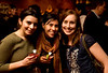 "3/5/08 Boston, MA -- From left, Theresa Rodrigues (cq), Catherine Howe and Emma March at the Adidas ""Handbags for Feet"" release party at Via Matta Enoteca March 5, 2008.  Erik Jacobs for the Boston Globe"