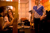 4/23/08 Somerville, MA -- After wrapping up some studying at a coffee house across the street, grad students Shannon Erisman (facing camera) and Laurie Bacon relax during Automatic at Diva Lounge in Somerville, MA April 23, 2008.  Erik Jacobs for the Boston Globe